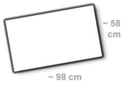 Format 98x58cm