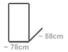 für Wägen 78x58cm