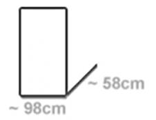 für Wägen 98x58cm