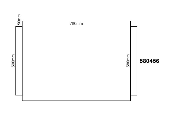Wollfilz 1mm für Kunststoffdielen 780x580mm