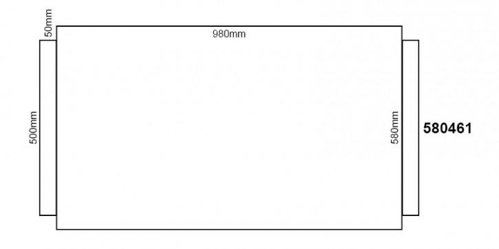 Wollfilz 1mm für Kunststoffdielen 980x580mm
